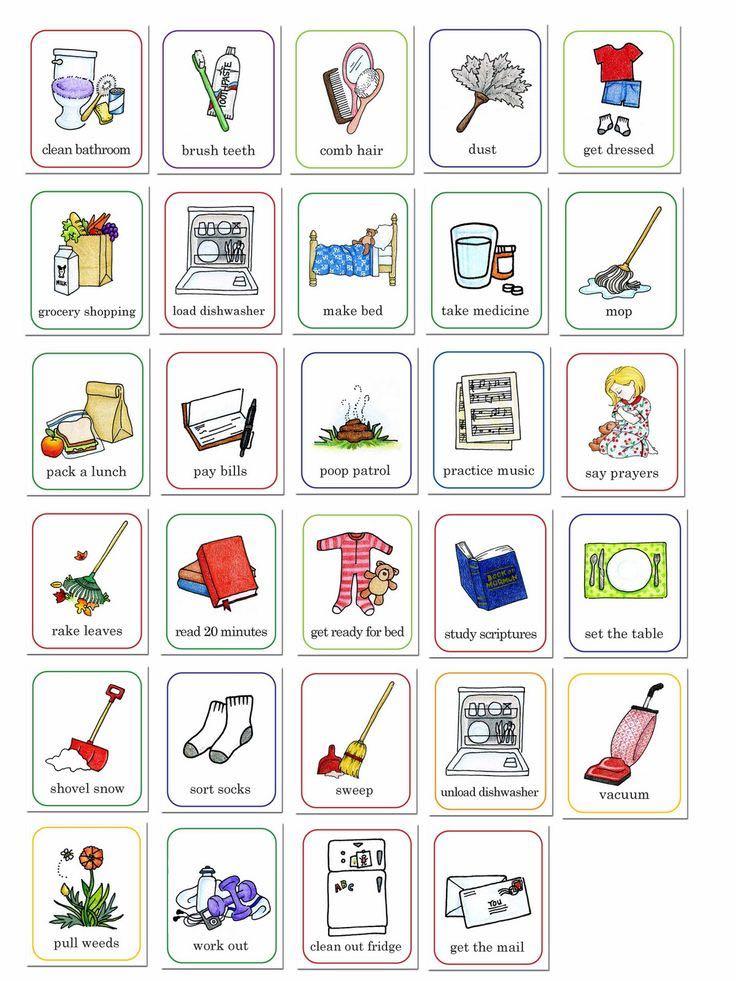 Kids activity chart